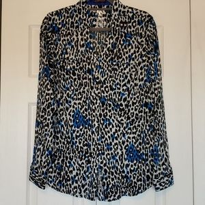 Rock 47 by wrangler animal print button up Large